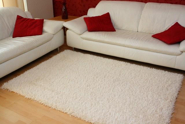 ultra hochflor shaggy teppich finesse hell creme ebay. Black Bedroom Furniture Sets. Home Design Ideas