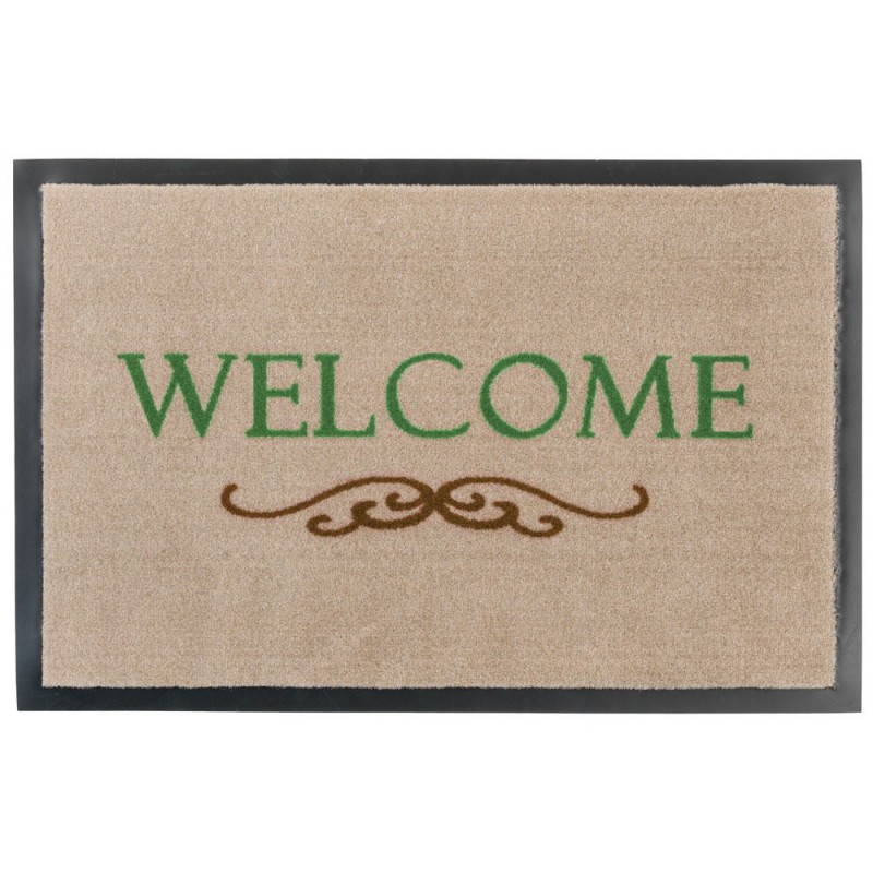 Fussmatte Homelike Welcome Ornament beige 50x70 cm