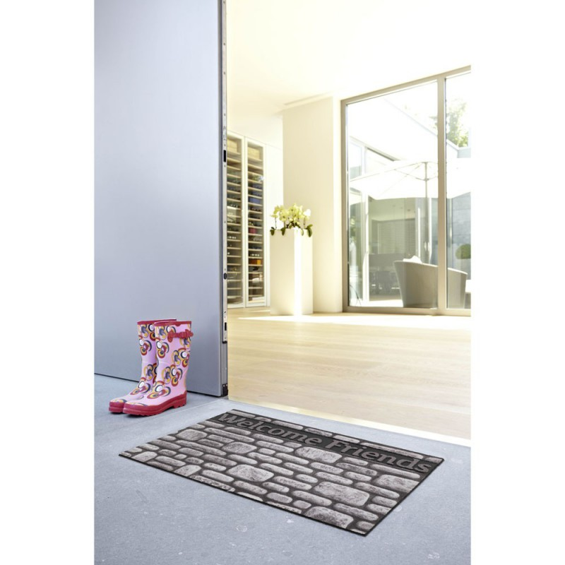 Fussmatte Eco Fashion Steine Welcome F. 45x75 cm