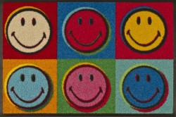 Fußmatte wash+dry Design Smiley Warhol 50x75 cm Bild 1