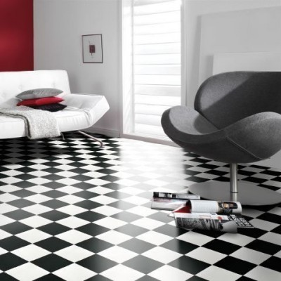 pvc boden gerflor clever schachbrett 0115 3m bodenbel ge pvc belag 3 00 m rollenbreite. Black Bedroom Furniture Sets. Home Design Ideas
