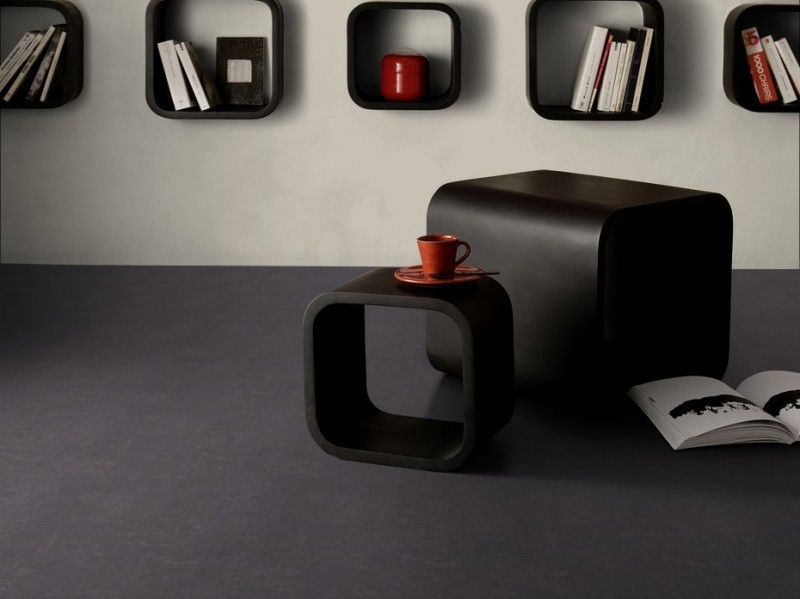 vinyl bodenfliese caractere urban concrete 0205 45 7x30. Black Bedroom Furniture Sets. Home Design Ideas