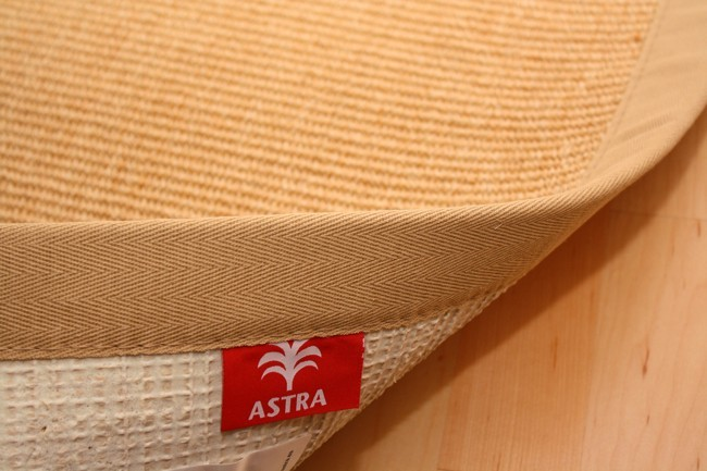 astra sisal teppich natur mit stoffbord re 002 muster muster. Black Bedroom Furniture Sets. Home Design Ideas