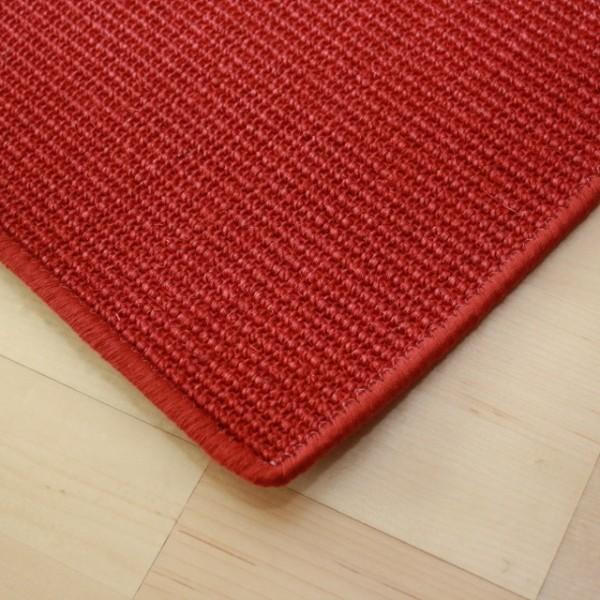 sisalteppich kettelteppich manaus farbe rot 11 teppiche sisal teppiche mit umkettelung. Black Bedroom Furniture Sets. Home Design Ideas