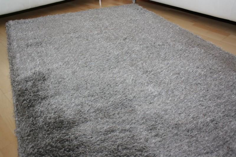 Shaggy teppich cosy grau teppiche shaggy teppiche - Silbergrau wandfarbe ...