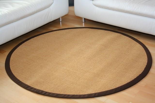 sisalteppich manaus natur mit stoffbord re 066 350 cm rund teppiche sisal teppiche mit bord re. Black Bedroom Furniture Sets. Home Design Ideas