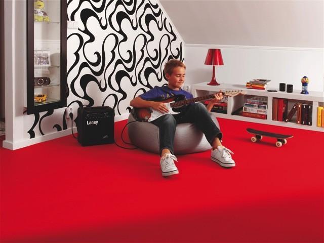 pvc bodenbelag tarkett design 260 dj red 4m bodenbel ge pvc belag 4 00 m rollenbreite. Black Bedroom Furniture Sets. Home Design Ideas