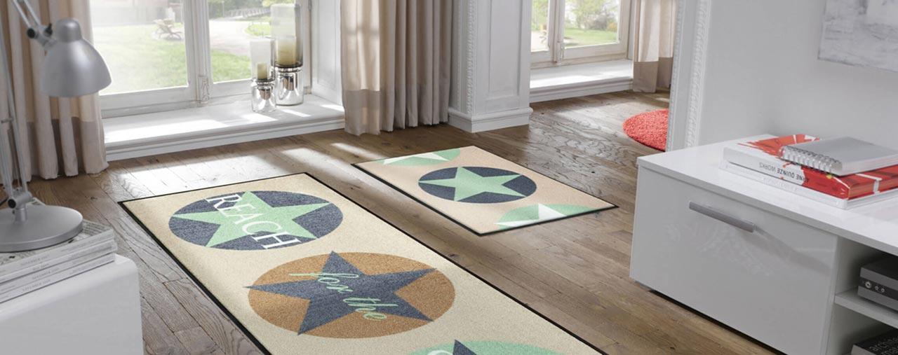 Bodenbeläge wie Vinylbeläge, PVC-Boden, Fußmatten ...